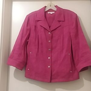COLDWATER CREEK  jacket pink size 14